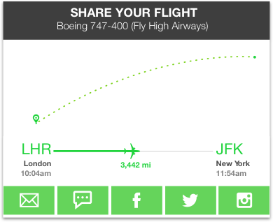 Example of FlightAware data implementation